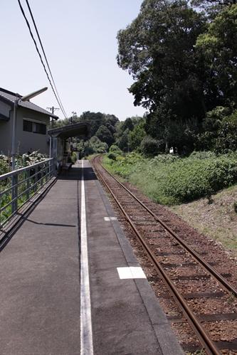 円田駅ホーム