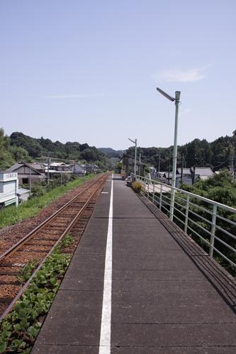 戸綿駅ホーム掛川方面