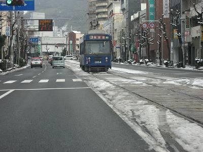元日の長崎市街地