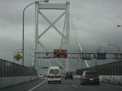 関門橋の渋滞