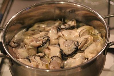 大量の牡蛎