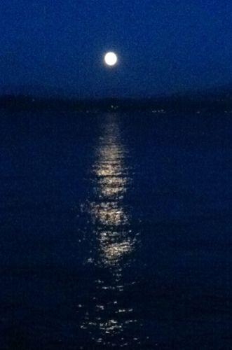 ワシントン湖の月