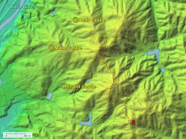 Shimofuri Castle topography