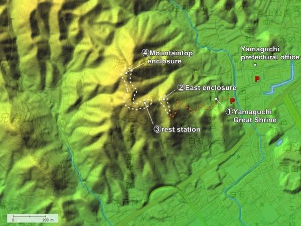 Konomine Castle topography