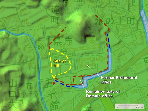 Yamaguchi Castle topography