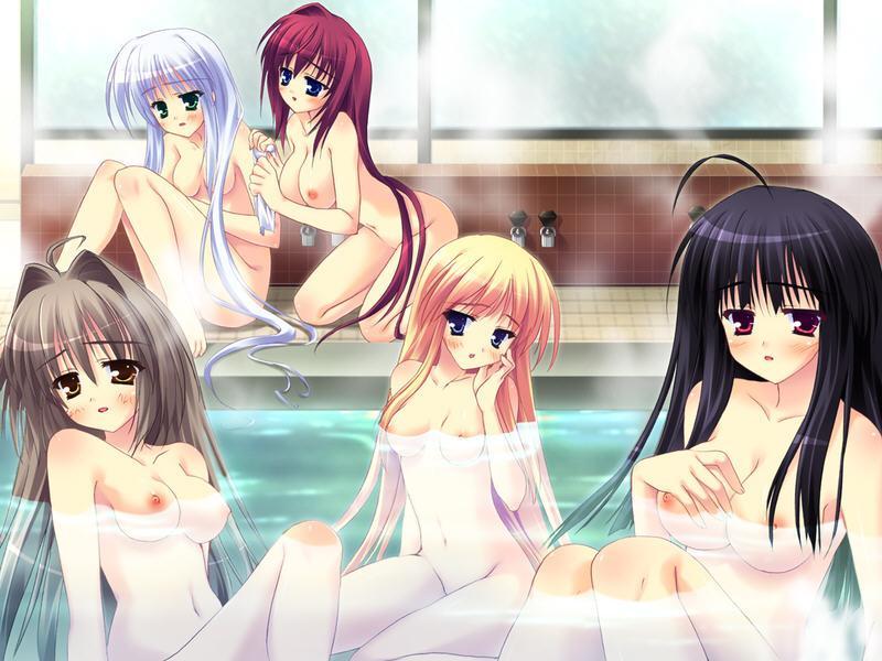 【お風呂】いやらしい体つきをした女の子のお風呂二次元画像(49枚)