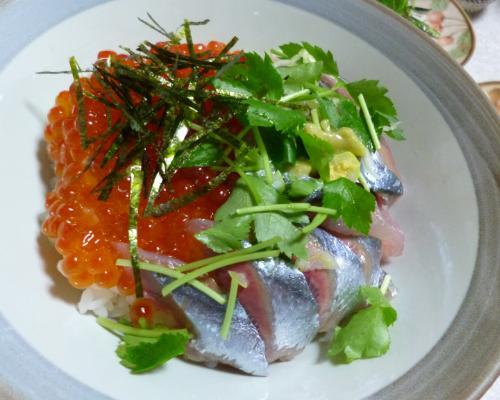 R130930イクラ秋刀魚丼