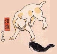 13★沼津(ぬまづ)→なまづ(ナマズを見つめる)