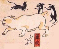 23★藤枝(ふじえだ)→ぶちへた(ブチ猫がネズミにからかわれる)