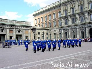 スウェーデン 王宮 衛兵の交代