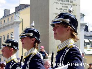 スウェーデン 王宮 衛兵の交代 音楽隊
