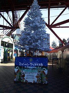 121201ミュンヘンクリスマス市のツリー