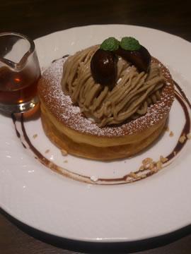 栗のスフレパンケーキ