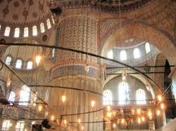 ブルーモスク天井と柱