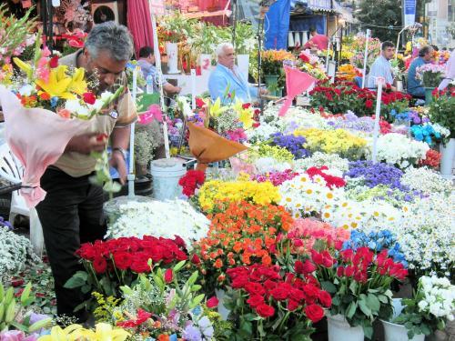 タクシム広場の花屋