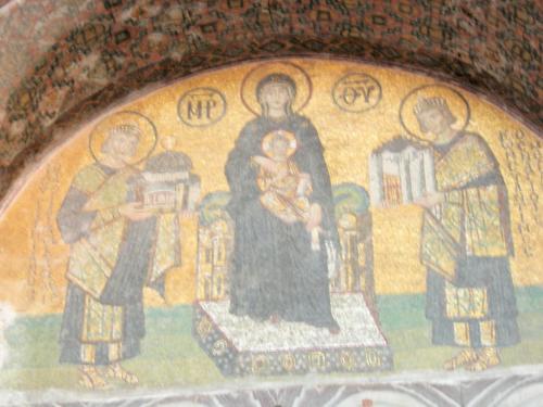 聖母子に献上する皇帝
