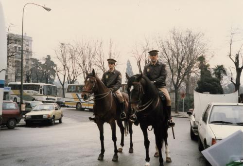 スペインの騎馬警官