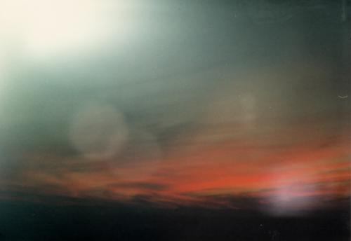 スペインの赤い夕日