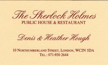 パブ・ホームズの名刺