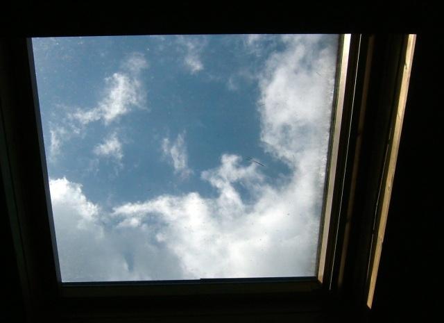 天窓の青空