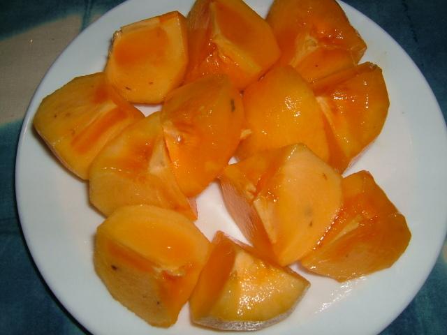 渋抜きした甘い柿
