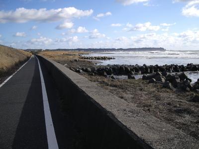 飯岡九十九里自転車道。