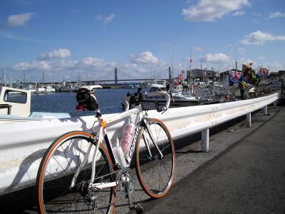銚子大橋と漁港