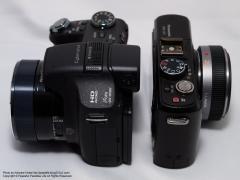 SONYサイバーショットDSC-HX100VとPanasonic LUMIX GF1