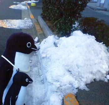 2012.1.29外堀通り【日陰の雪】