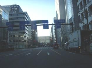 2012.1.29外堀通り7【鎌倉橋】