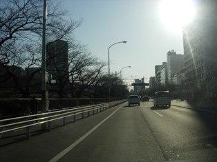 2012.1.29外堀通り15【理科大前】