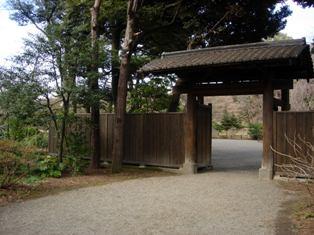 庭園への入口