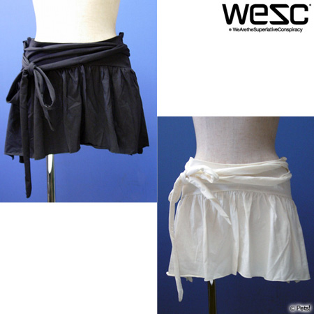 ミニスカート リボン 無地 【WeSC(ウィーエスシー)◆