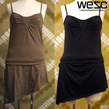 WeSC(ウィーエスシー)◆ アシンメトリー丈 シンプルキャミワンピ チュニック 無地 【レディース】