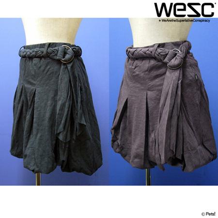 共布ベルト付バルーンスカート スカート バルーン裾 ボトムス 【WeSC(ウィーエスシー)】