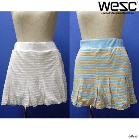 ボーダーバルーンスカート スカート バルーン裾 ボトムス ボーダー 【WeSC(ウィーエスシー)】