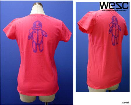 プリントTシャツ トップス カットソー ラウンドネック 【WeSC(ウィーエスシー)◆S】☆メール便可