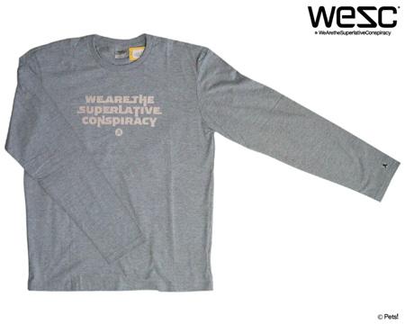 プリントTシャツ カットソー トップス クルーネック 長袖 【メンズ WeSC(ウィーエスシー)◆XL】