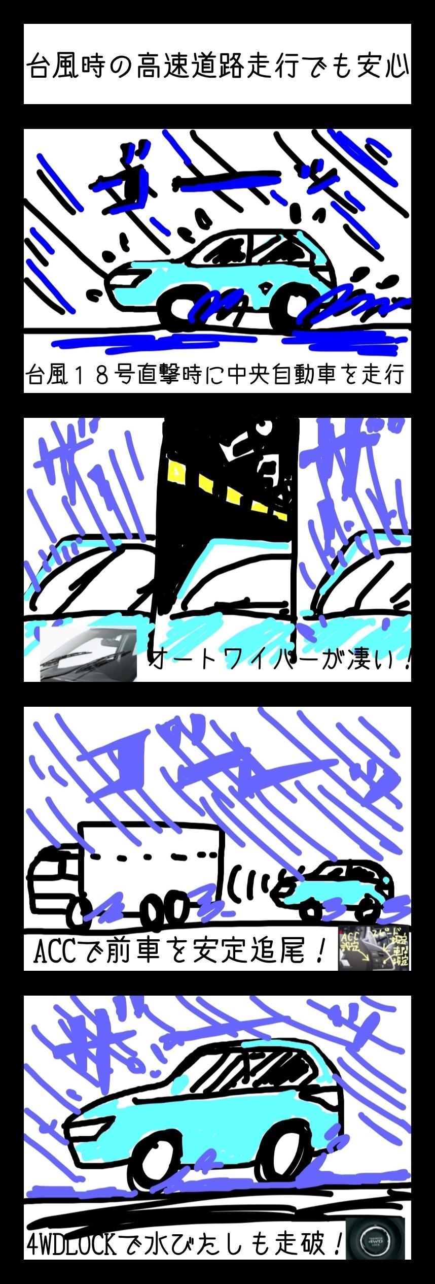 アウトランダーPHEV in台風18号
