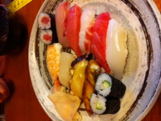 予定外の寿司ランチ