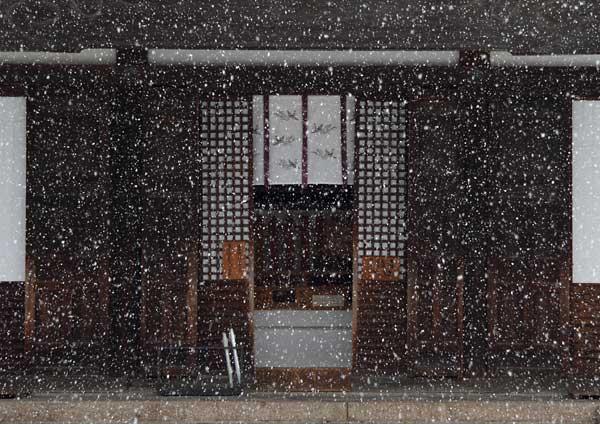 雪化粧の東大寺5