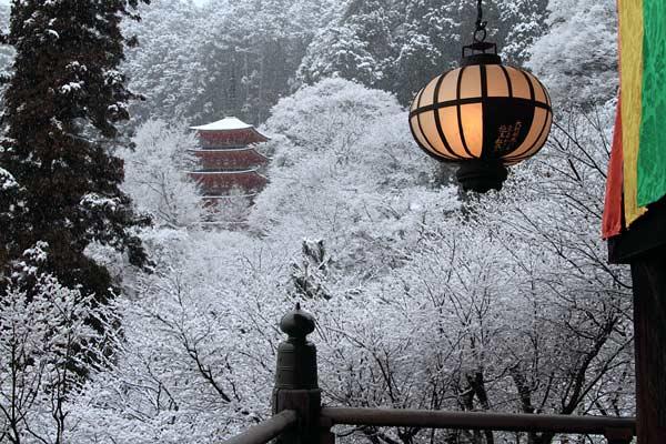 長谷寺 雪景色1