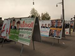 Plakate fuer den Wahl 2011