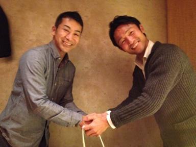 授賞式 握手2