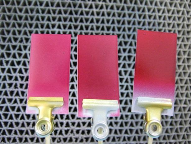 実験 塗装 色源発色