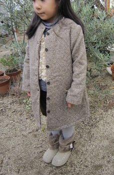 gg 襟なしコート