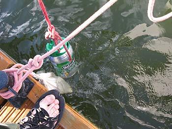 水中ビール
