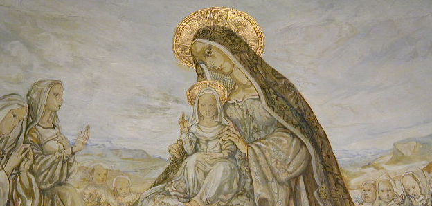 fujita_maria_lフジタ礼拝堂・祭壇画の聖母子