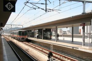 姫路駅 姫新線ホーム100905