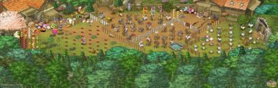 ぷにゅさんの牧場全景